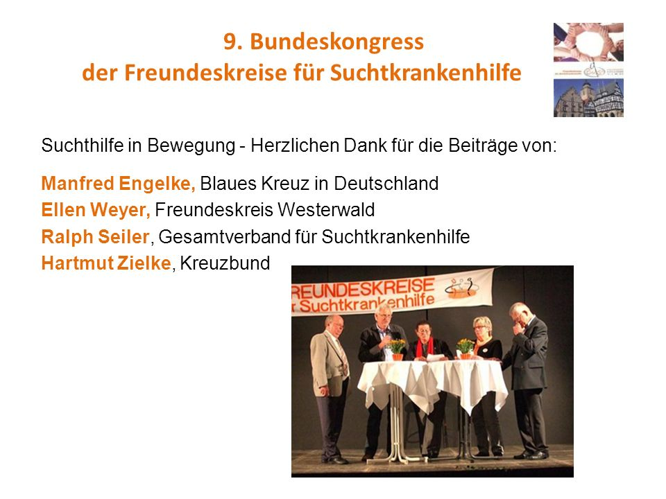 9. Bundeskongress der Freundeskreise für Suchtkrankenhilfe