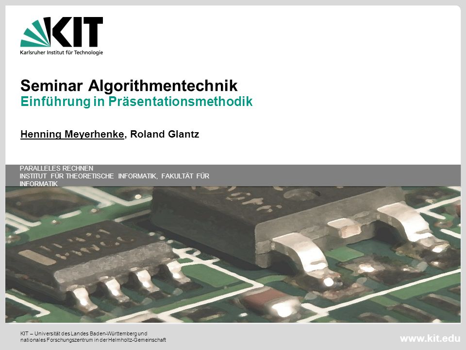 Seminar Algorithmentechnik