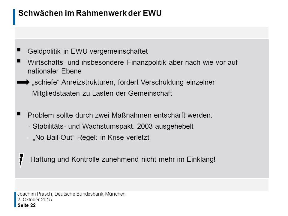 Schwächen im Rahmenwerk der EWU