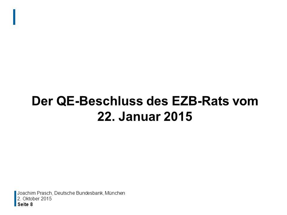Der QE-Beschluss des EZB-Rats vom