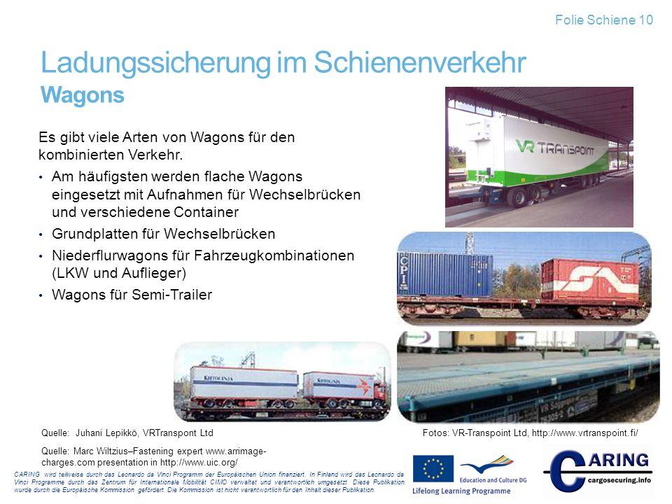 Ladungssicherung im Schienenverkehr Wagons