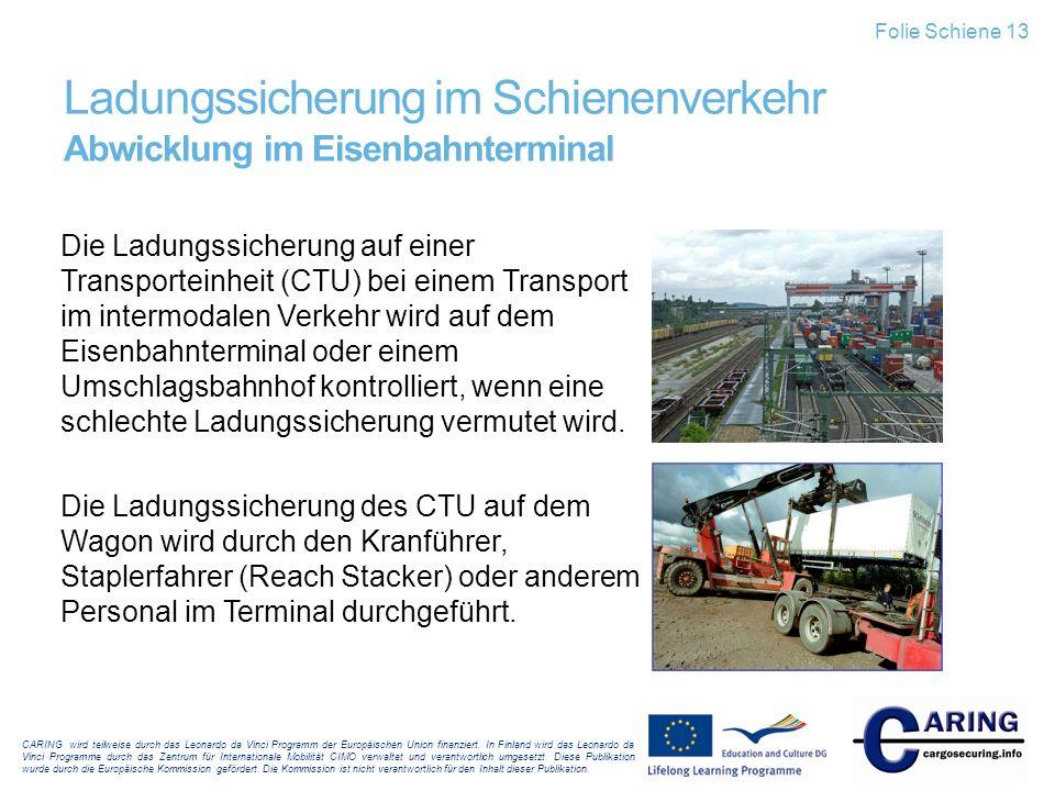Ladungssicherung im Schienenverkehr Abwicklung im Eisenbahnterminal