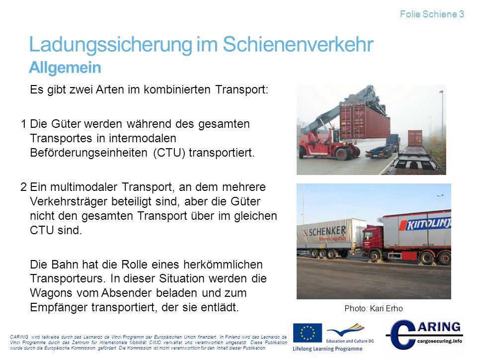 Ladungssicherung im Schienenverkehr Allgemein