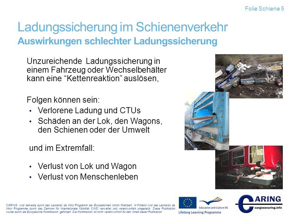 Folie Schiene 5 Ladungssicherung im Schienenverkehr Auswirkungen schlechter Ladungssicherung.