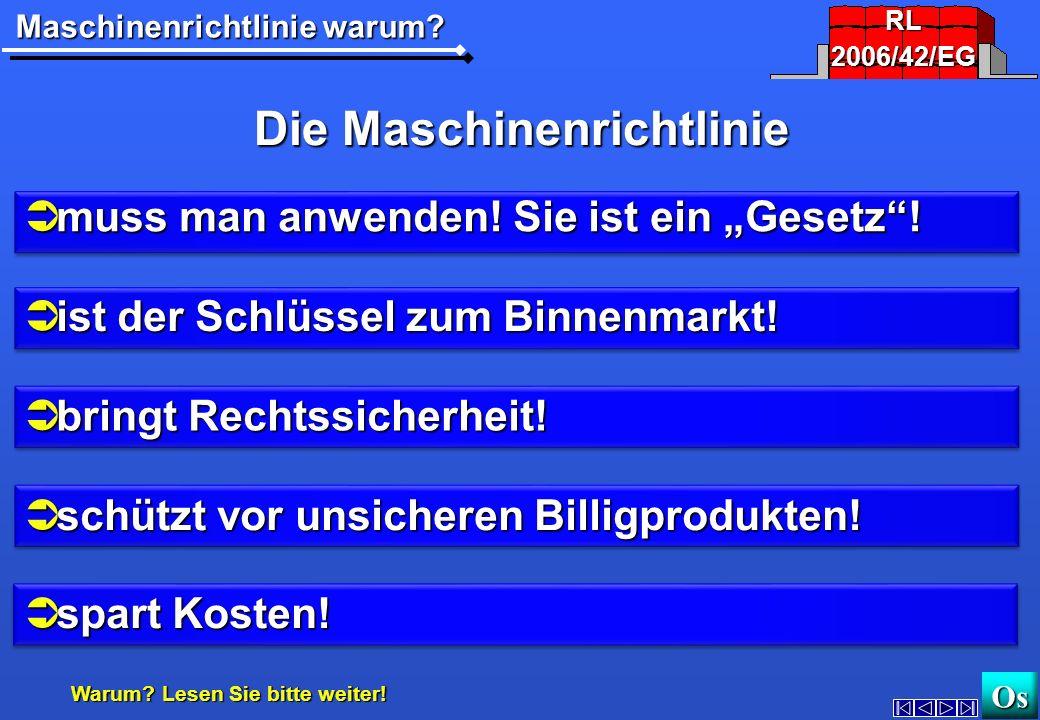 Die Maschinenrichtlinie