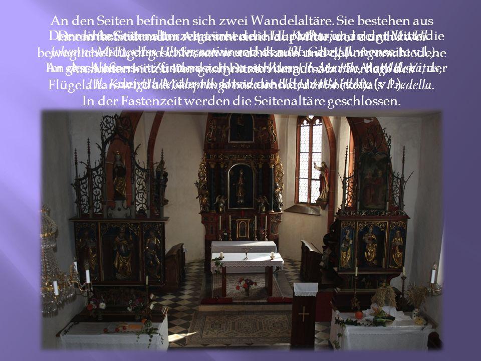 In der Fastenzeit werden die Seitenaltäre geschlossen.
