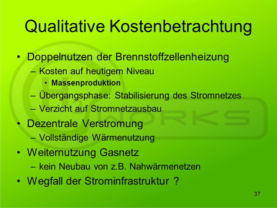 Qualitative Kostenbetrachtung