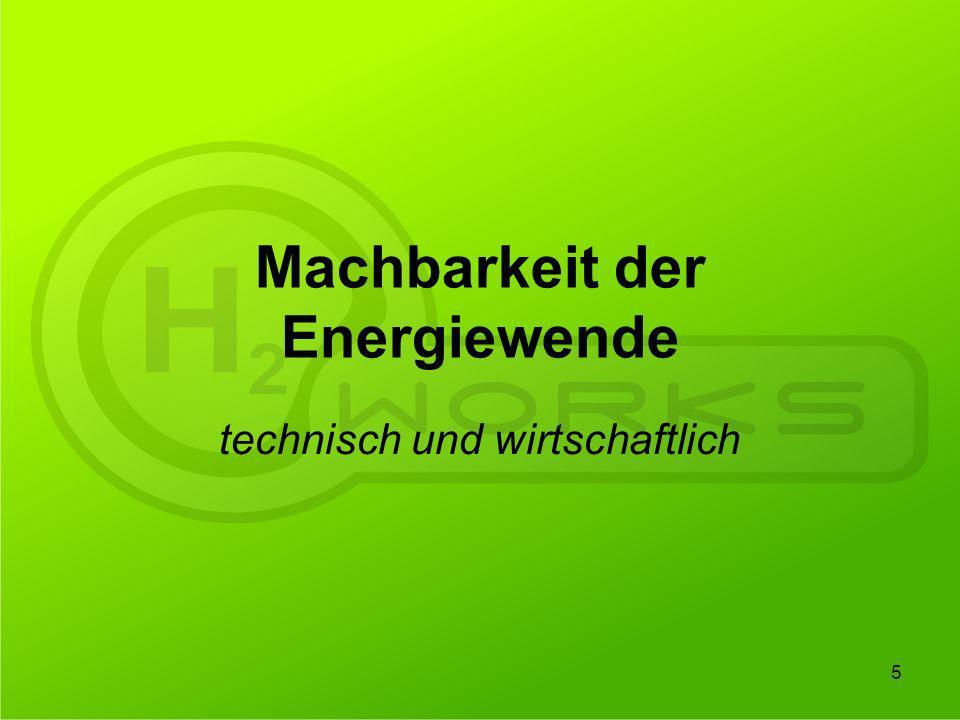 Machbarkeit der Energiewende