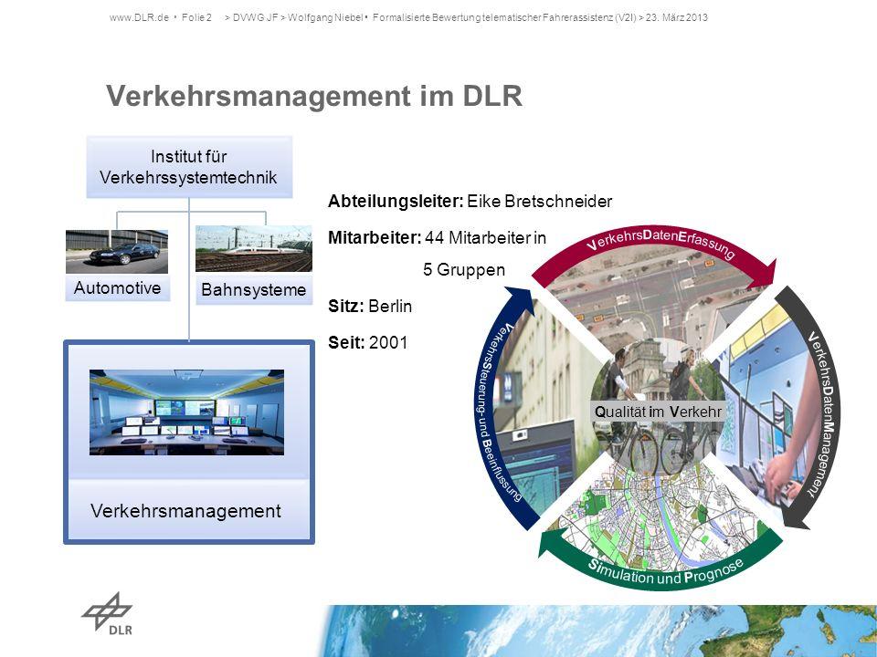 Verkehrsmanagement im DLR