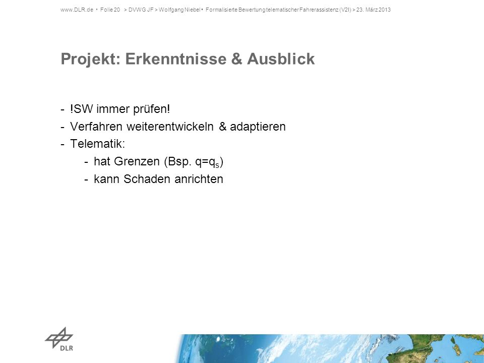 Projekt: Erkenntnisse & Ausblick