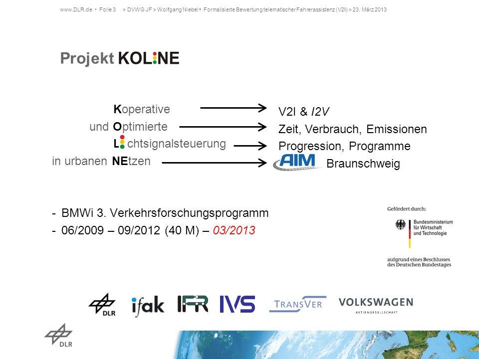 Projekt K Koperative V2I & I2V und Optimierte