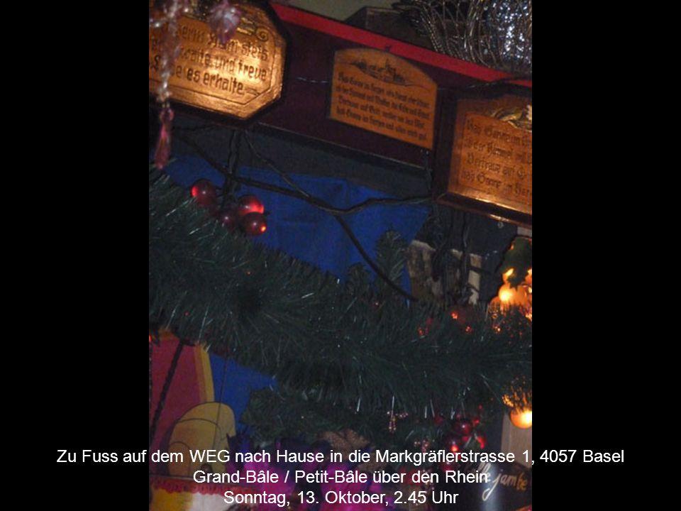 Zu Fuss auf dem WEG nach Hause in die Markgräflerstrasse 1, 4057 Basel