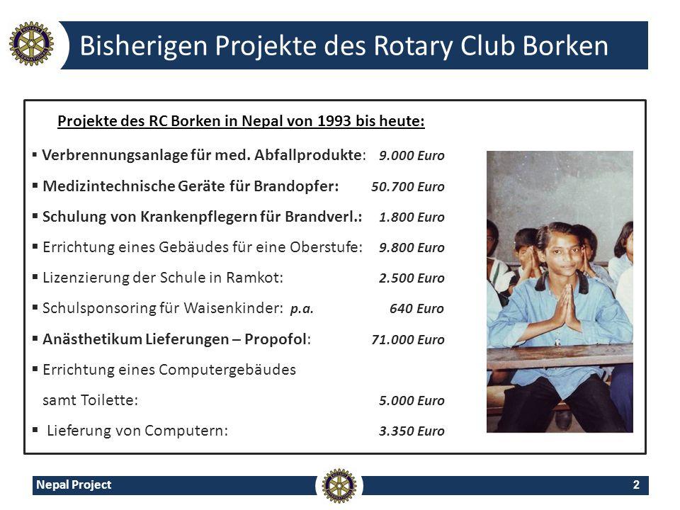 Bisherigen Projekte des Rotary Club Borken