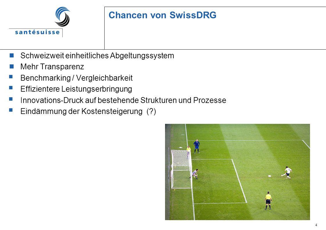 Chancen von SwissDRG Schweizweit einheitliches Abgeltungssystem