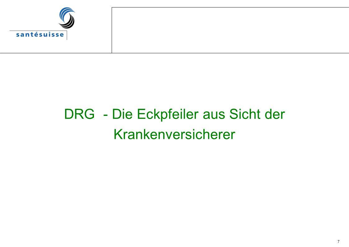 DRG - Die Eckpfeiler aus Sicht der