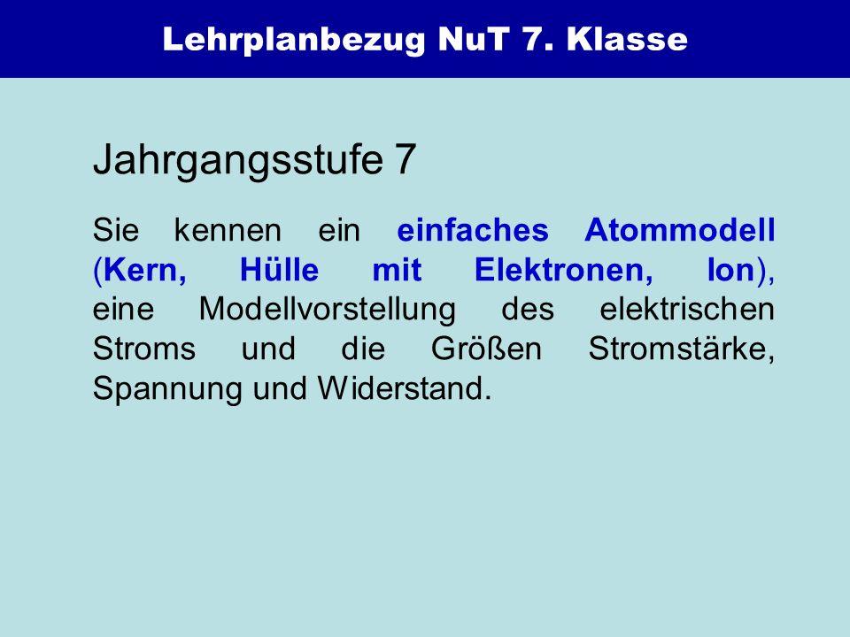 Lehrplanbezug NuT 7. Klasse