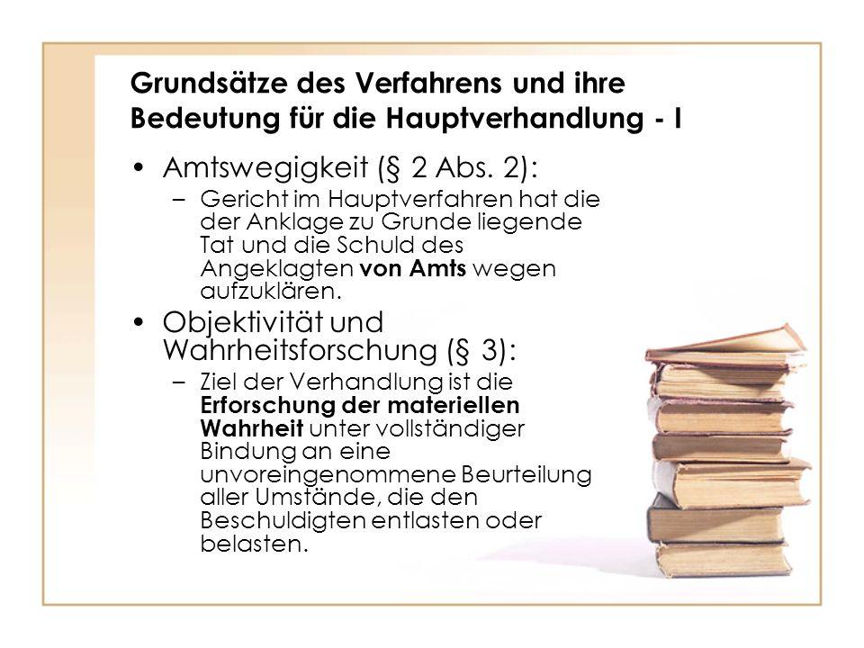 Amtswegigkeit (§ 2 Abs. 2):