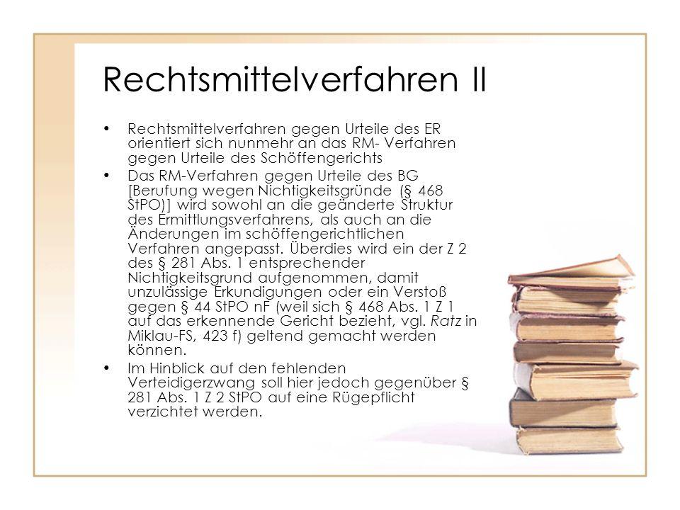 Rechtsmittelverfahren II