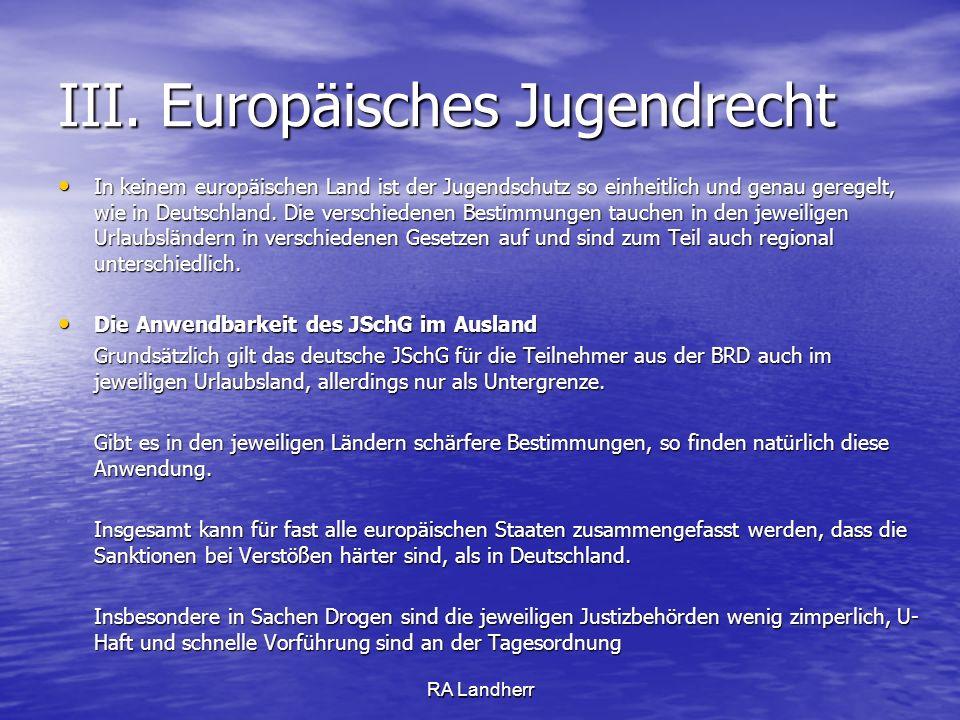 III. Europäisches Jugendrecht