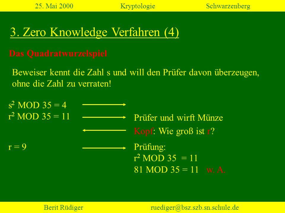 25. Mai 2000 Kryptologie Schwarzenberg