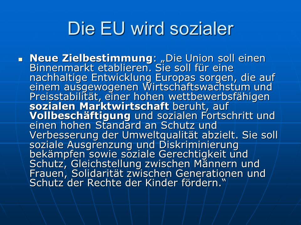 Die EU wird sozialer