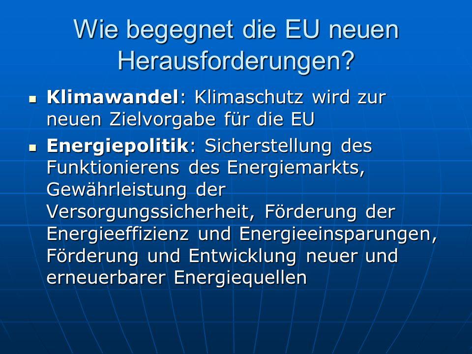 Wie begegnet die EU neuen Herausforderungen