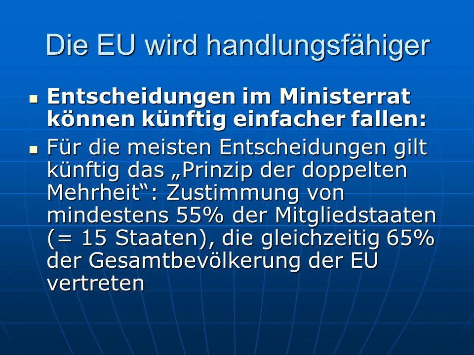 Die EU wird handlungsfähiger