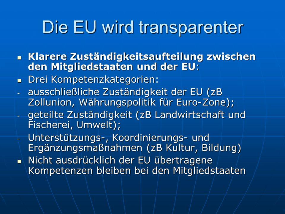 Die EU wird transparenter