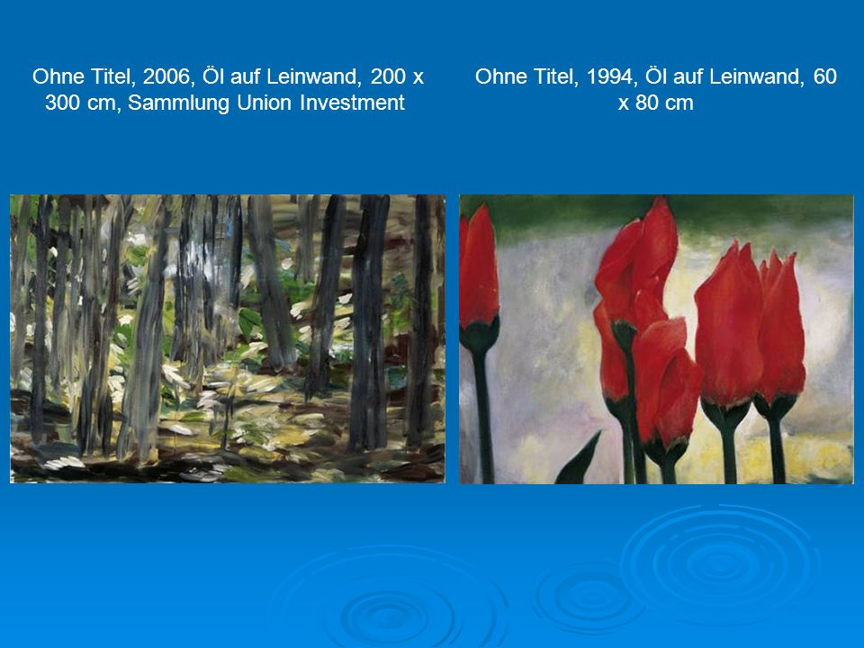 Ohne Titel, 1994, Öl auf Leinwand, 60 x 80 cm