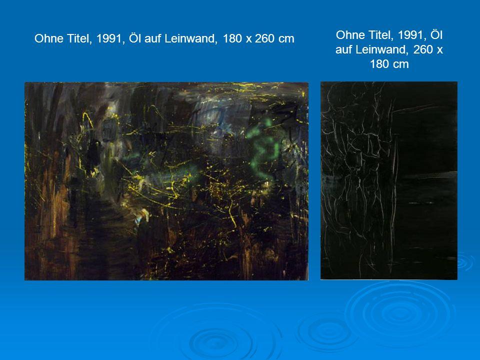 Ohne Titel, 1991, Öl auf Leinwand, 260 x 180 cm