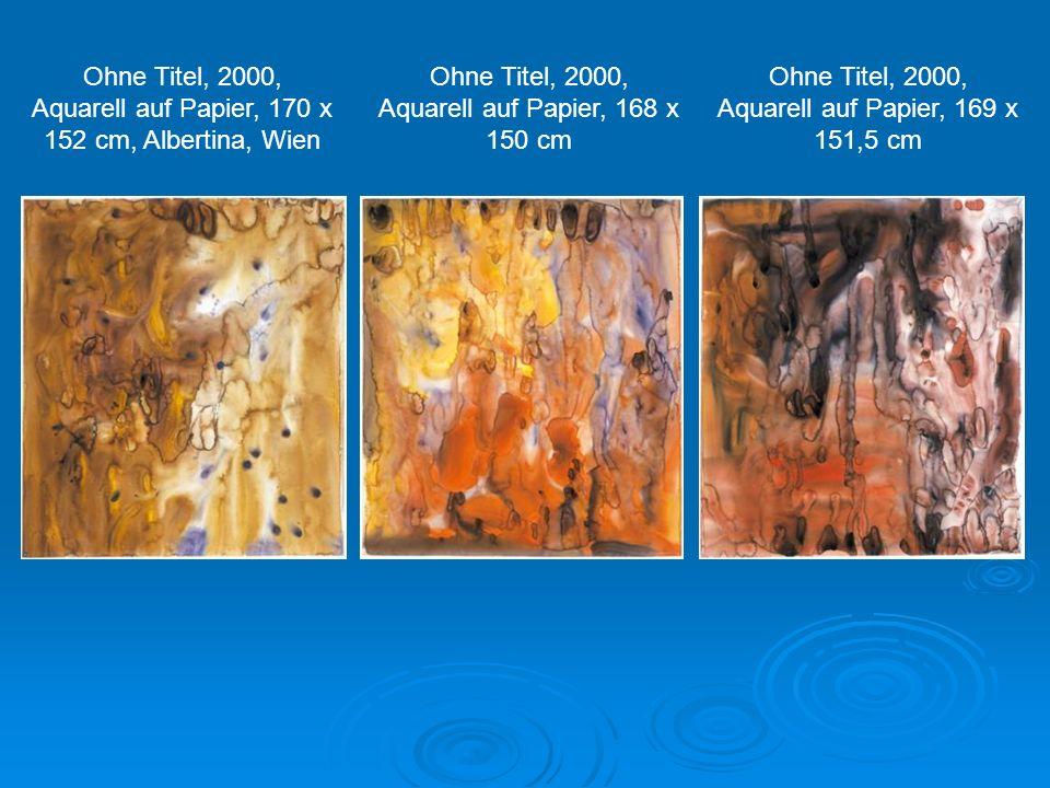 Ohne Titel, 2000, Aquarell auf Papier, 170 x 152 cm, Albertina, Wien