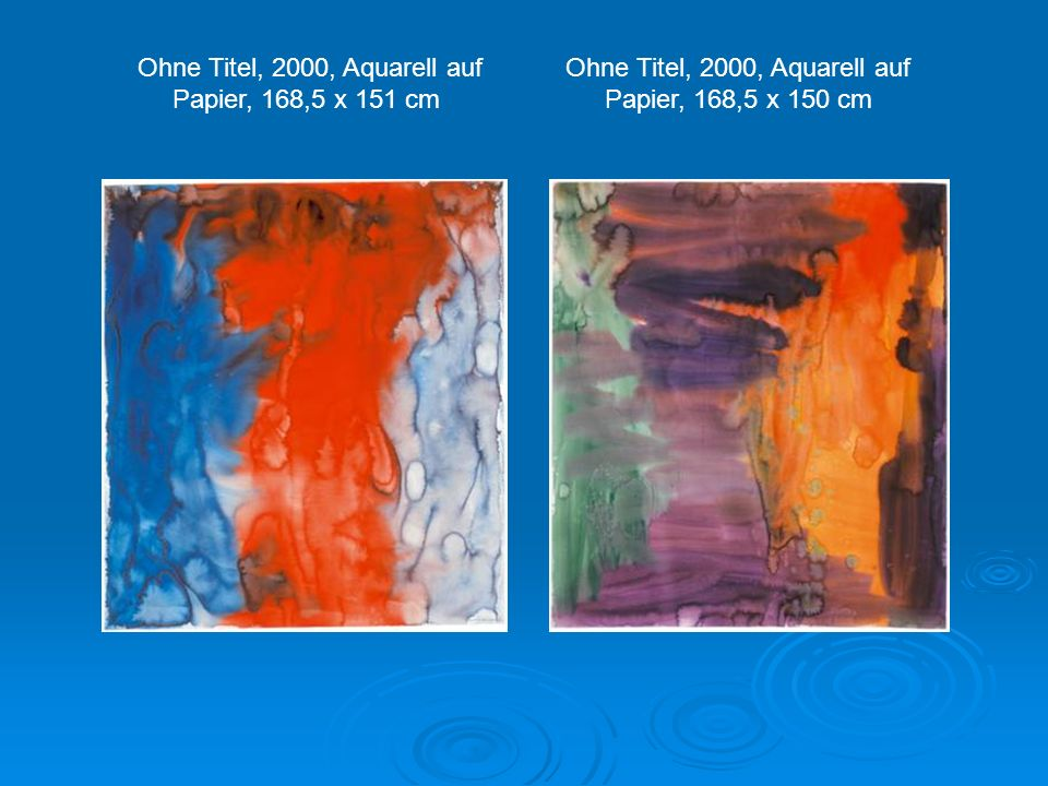 Ohne Titel, 2000, Aquarell auf Papier, 168,5 x 151 cm