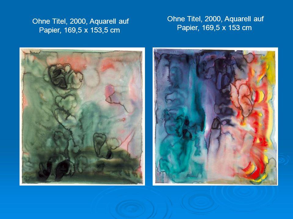 Ohne Titel, 2000, Aquarell auf Papier, 169,5 x 153 cm