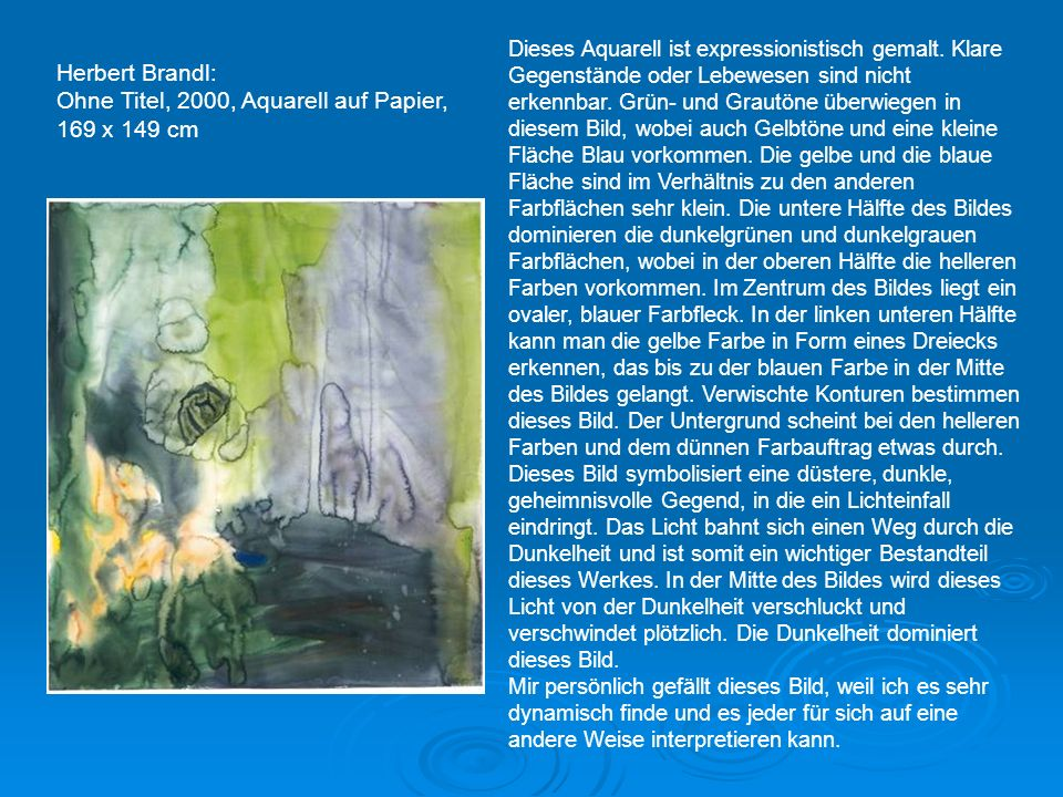 Ohne Titel, 2000, Aquarell auf Papier, 169 x 149 cm