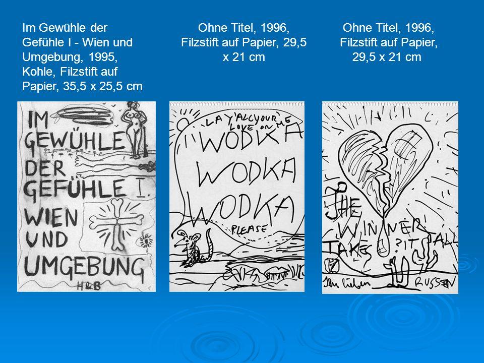 Ohne Titel, 1996, Filzstift auf Papier, 29,5 x 21 cm