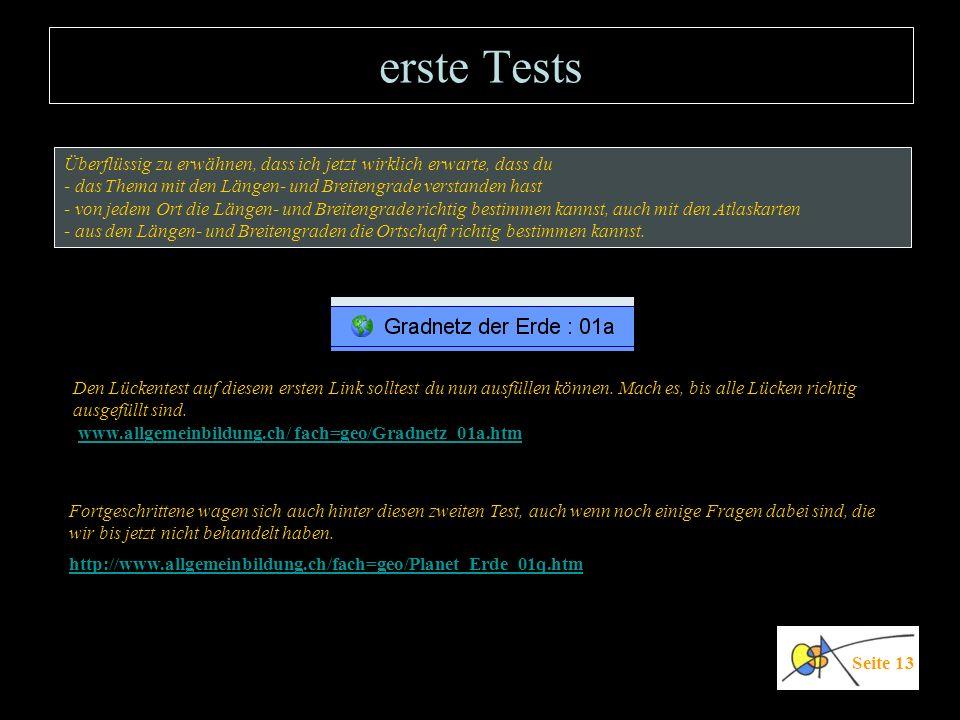 erste Tests