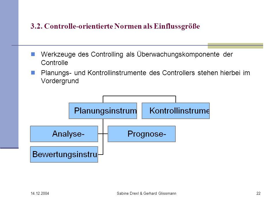 3.2. Controlle-orientierte Normen als Einflussgröße