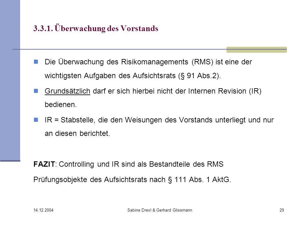 3.3.1. Überwachung des Vorstands