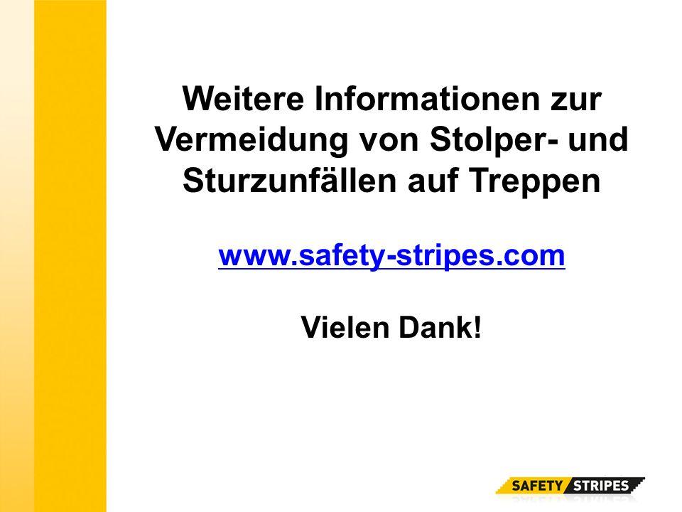 Weitere Informationen zur Vermeidung von Stolper- und Sturzunfällen auf Treppen