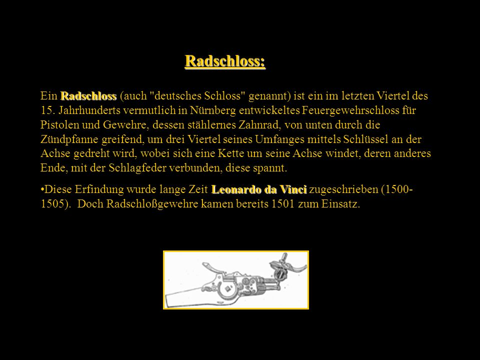 Radschloss: