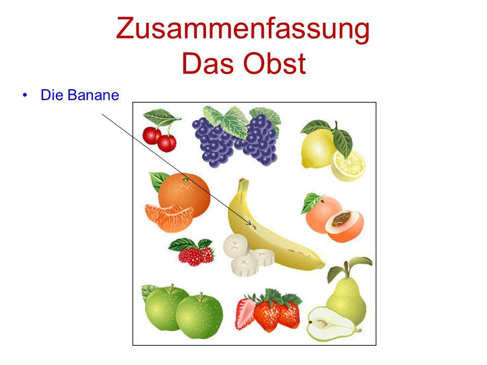 Zusammenfassung Das Obst