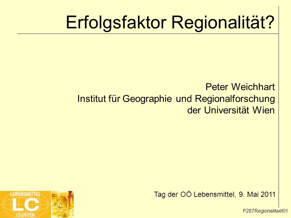Erfolgsfaktor Regionalität