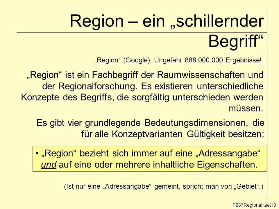 """Region – ein """"schillernder Begriff"""