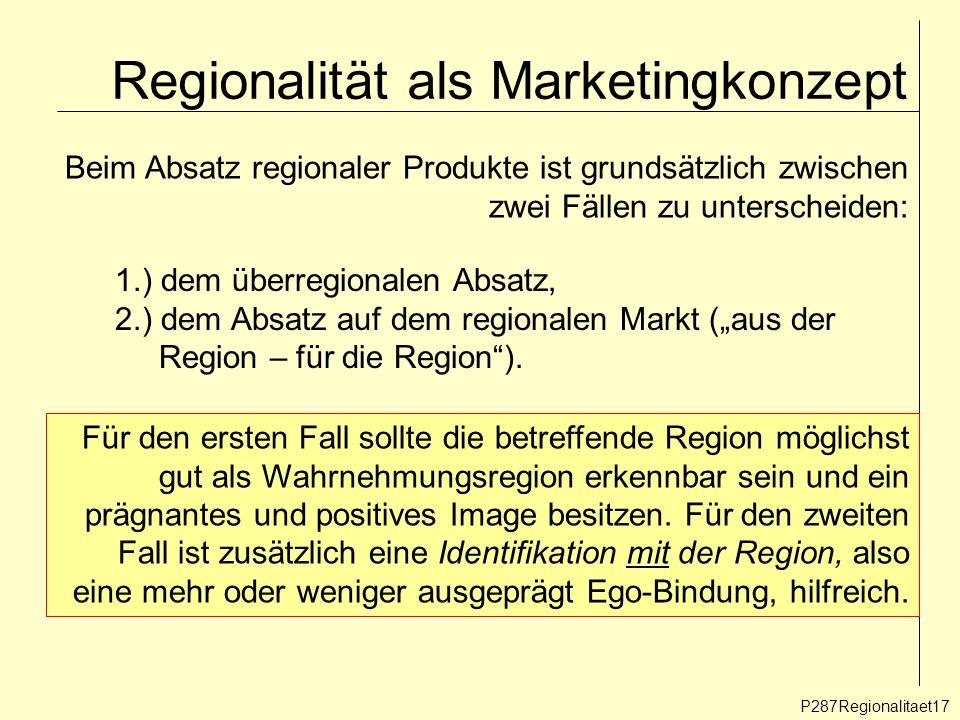Regionalität als Marketingkonzept