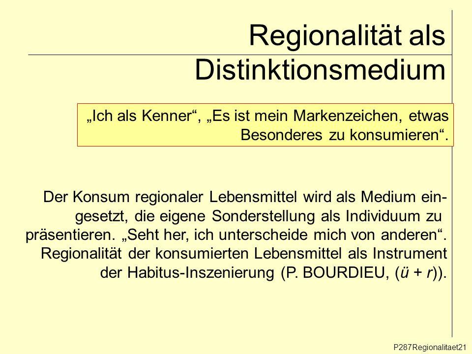 Regionalität als Distinktionsmedium