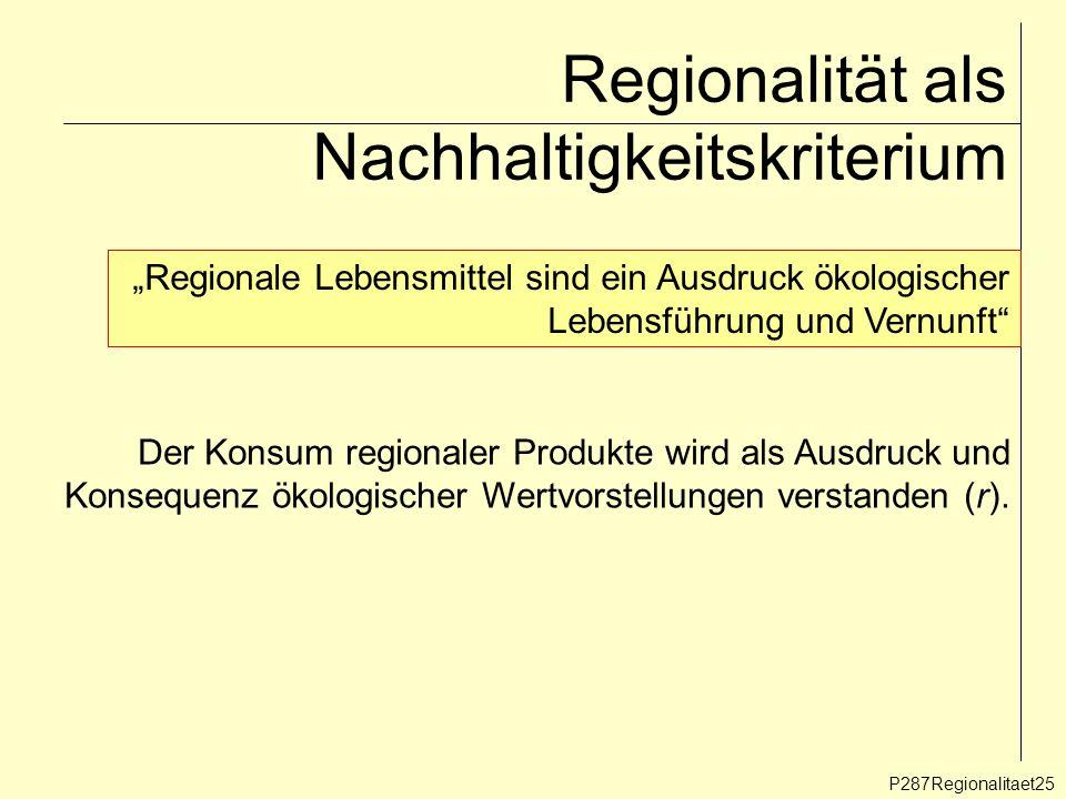 Regionalität als Nachhaltigkeitskriterium