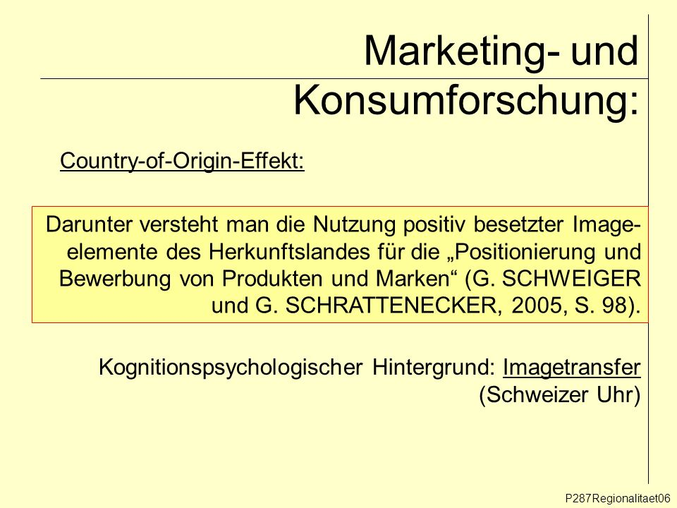Marketing- und Konsumforschung: