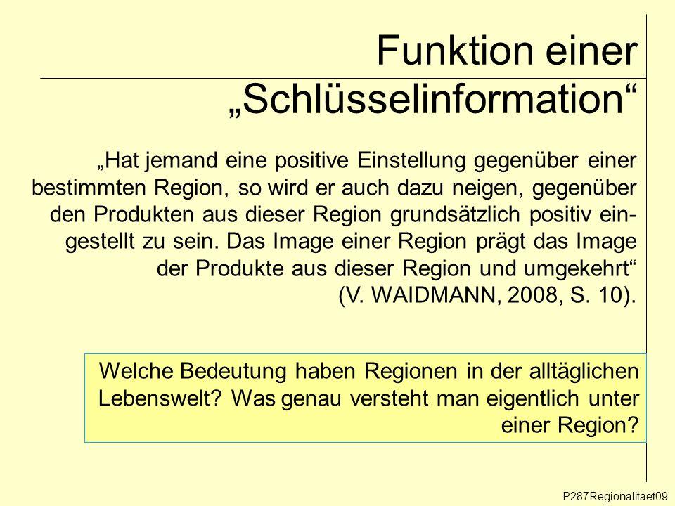 """Funktion einer """"Schlüsselinformation"""