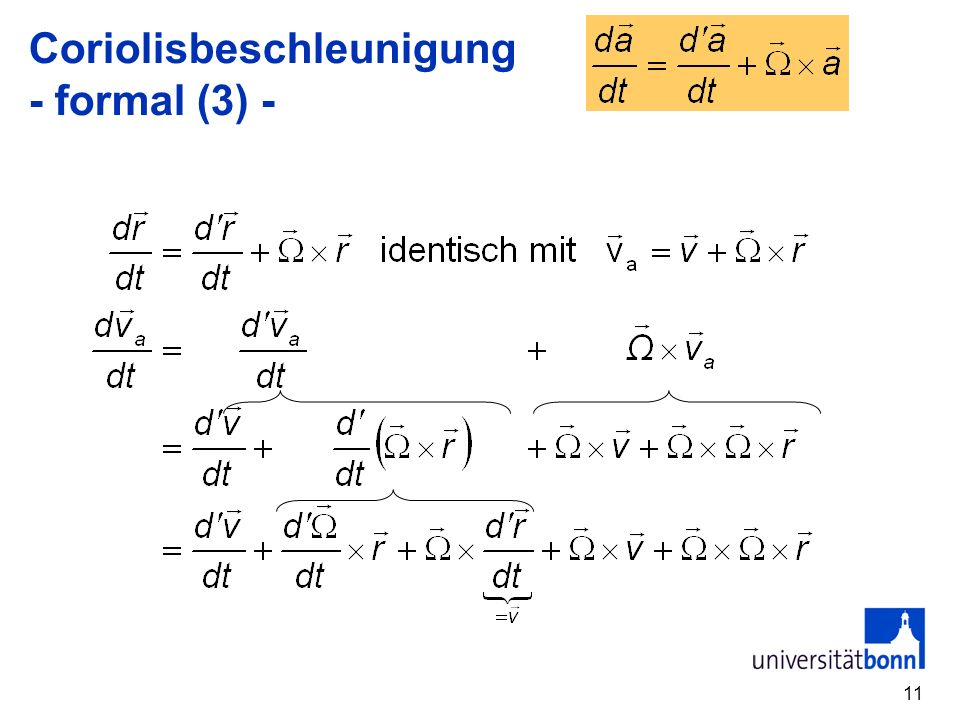 Coriolisbeschleunigung - formal (3) -