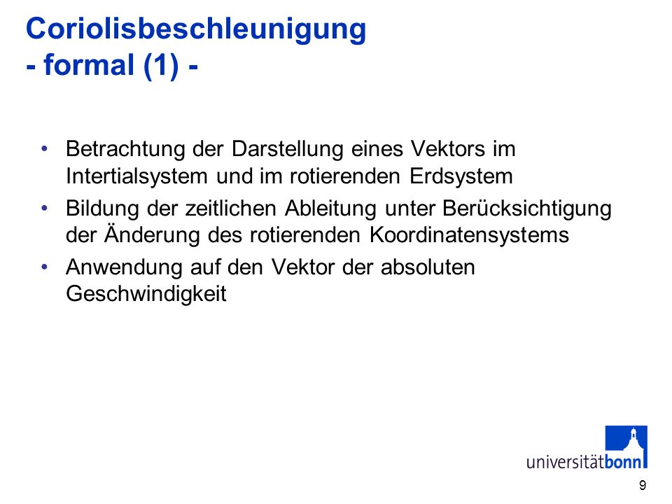 Coriolisbeschleunigung - formal (1) -